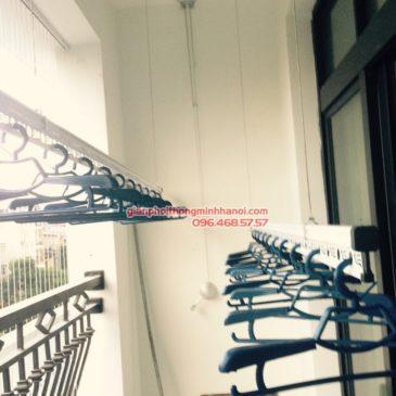 Lắp giàn phơi Thanh Xuân, bộ giàn phơi GP950 nhà anh Tùng, P0326, Tòa R2, Royal City