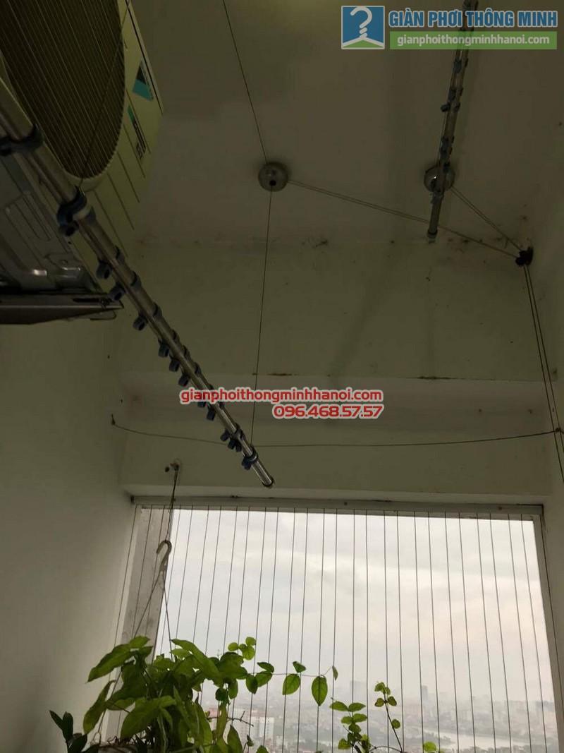 Sửa giàn phơi thông minh Hoàng Mai nhà chú Chiến, chung cư VP3, bán đảo Linh Đàm - 01