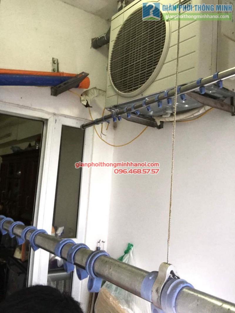 Sửa giàn phơi thông minh Hoàng Mai nhà chú Chiến, chung cư VP3, bán đảo Linh Đàm - 03