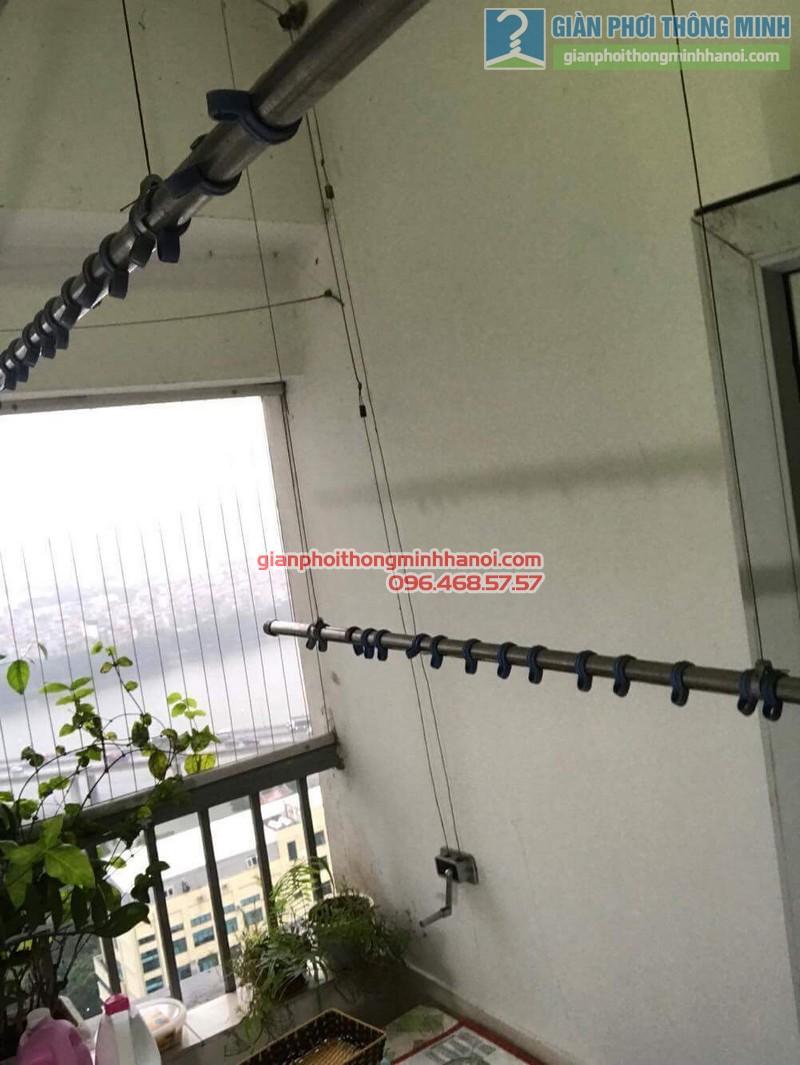 Sửa giàn phơi thông minh Hoàng Mai nhà chú Chiến, chung cư VP3, bán đảo Linh Đàm - 05