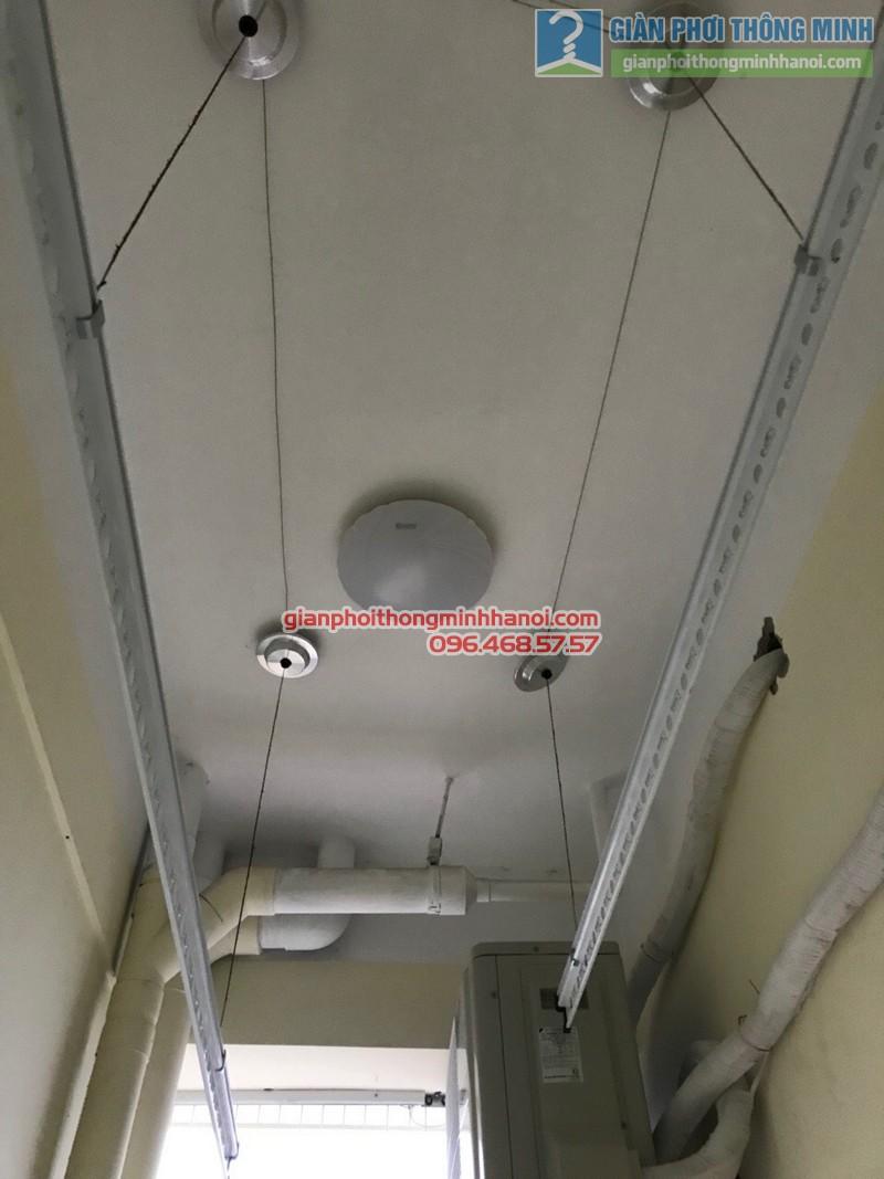 Lắp đặt giàn phơi thông minh Thanh Trì, nhà chị Hiền, P511, tòa C5, khu TT nhà in, xã Ngũ Hiệp - 07