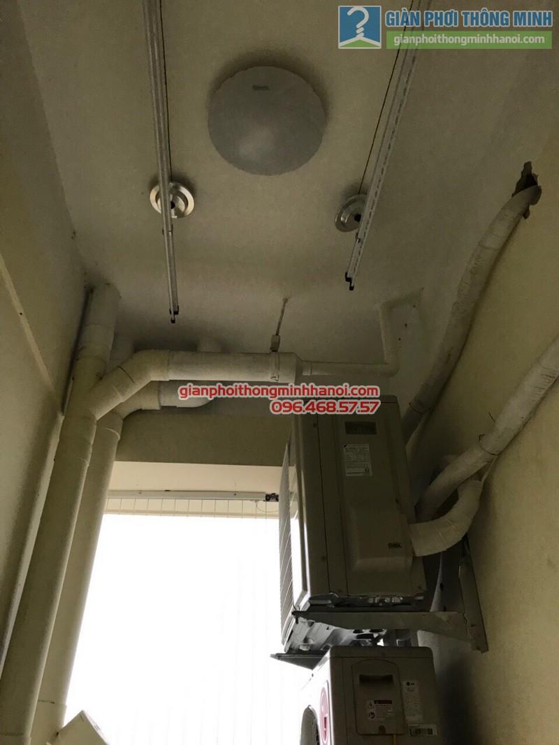 Lắp đặt giàn phơi thông minh Thanh Trì, nhà chị Hiền, P511, tòa C5, khu TT nhà in, xã Ngũ Hiệp - 08
