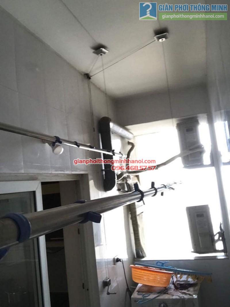 Thay dây cáp giàn phơi nhà chị Dịu, chung cư M5, 91 Nguyễn Chí Thanh, Đống, Đa, Hà Nội - 02