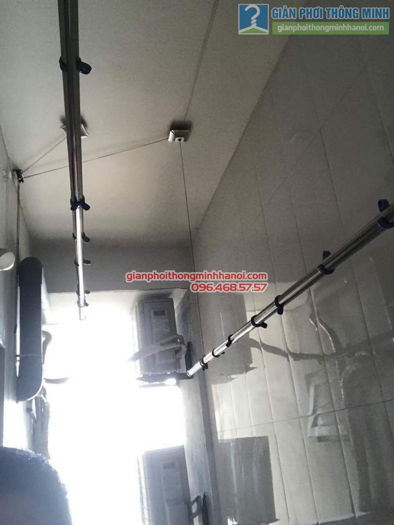 Thay dây cáp giàn phơi nhà chị Dịu, chung cư M5, 91 Nguyễn Chí Thanh, Đống, Đa, Hà Nội - 04