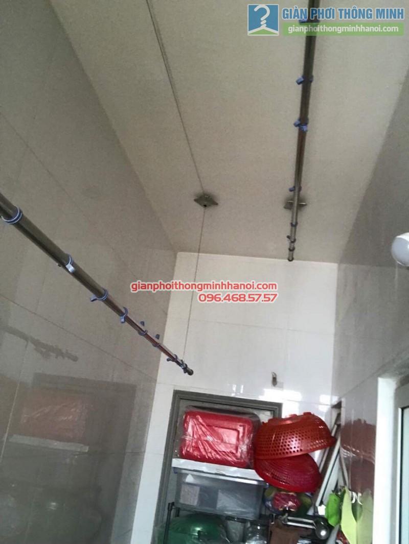 Thay dây cáp giàn phơi nhà chị Dịu, chung cư M5, 91 Nguyễn Chí Thanh, Đống, Đa, Hà Nội - 06