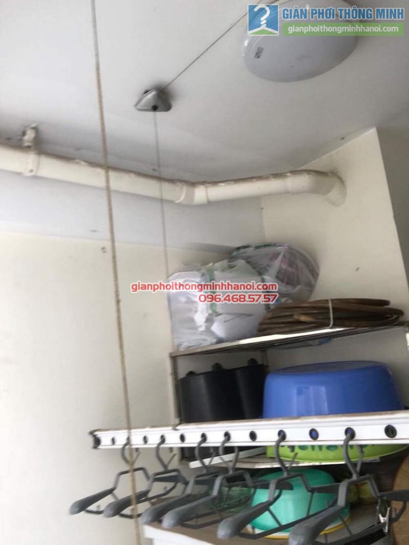 Lắp giàn phơi thông minh tại Hoàng Mai nhà chị Thủy, chung cư Nam Đô Complex - 01