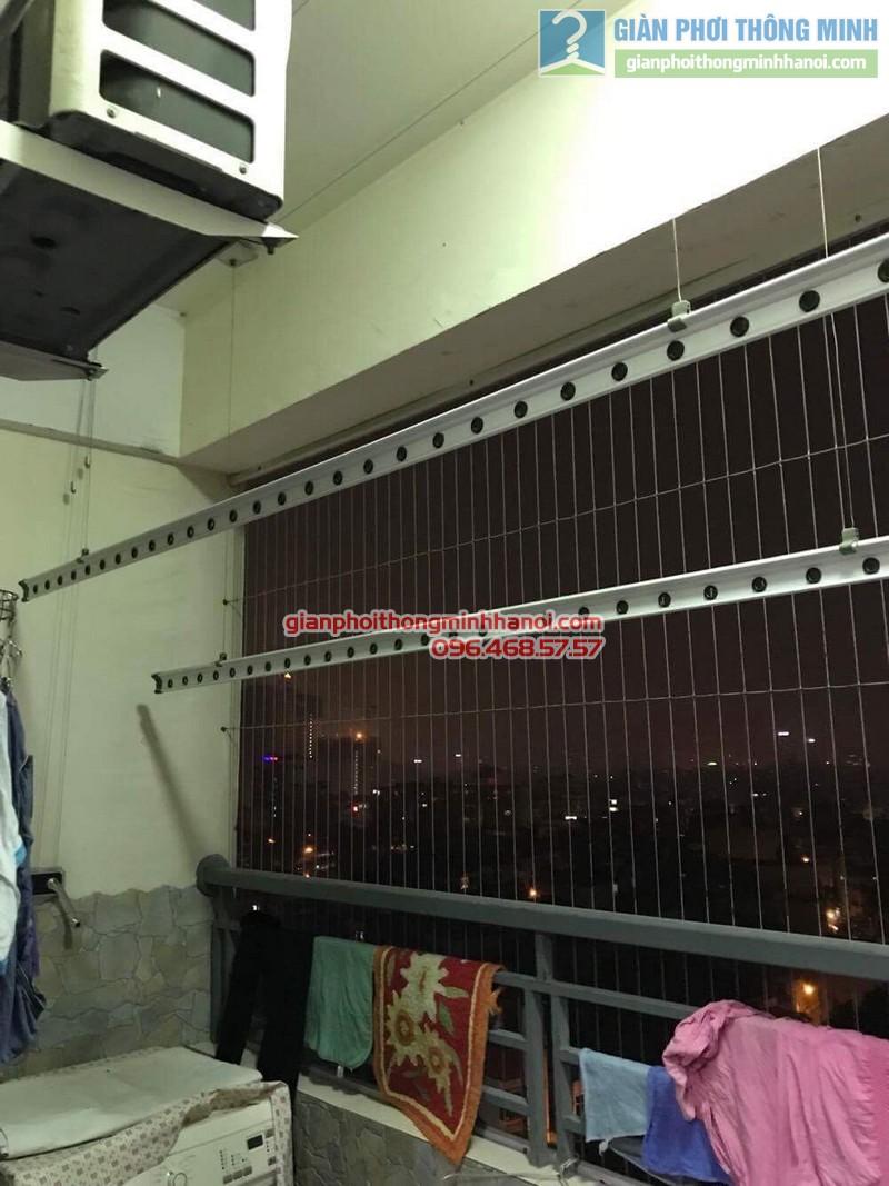 Lắp giàn phơi thông minh tại Hoàng Mai nhà chị Thủy, chung cư Nam Đô Complex - 04