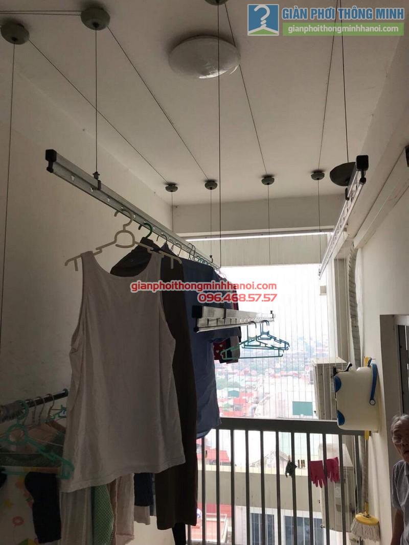 Sửa giàn phơi thông minh nhà chú Minh, chung cư 25 Lạc Trung, Hai Bà Trưng, Hà Nội - 01