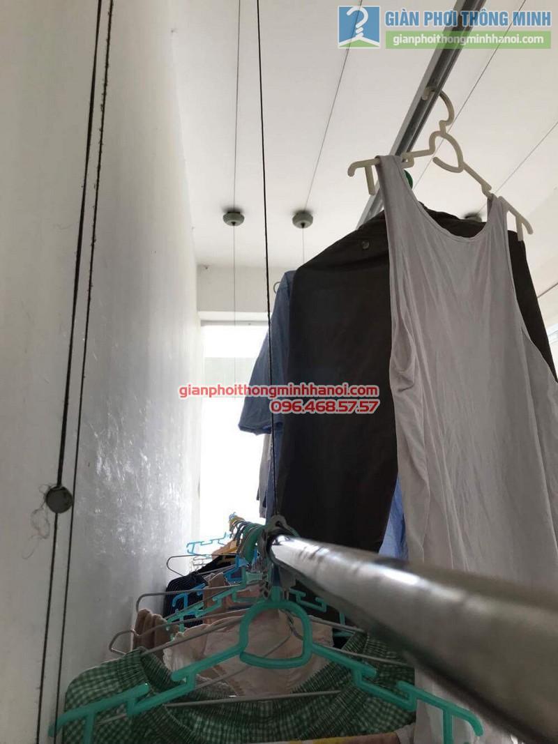 Sửa giàn phơi thông minh nhà chú Minh, chung cư 25 Lạc Trung, Hai Bà Trưng, Hà Nội - 05