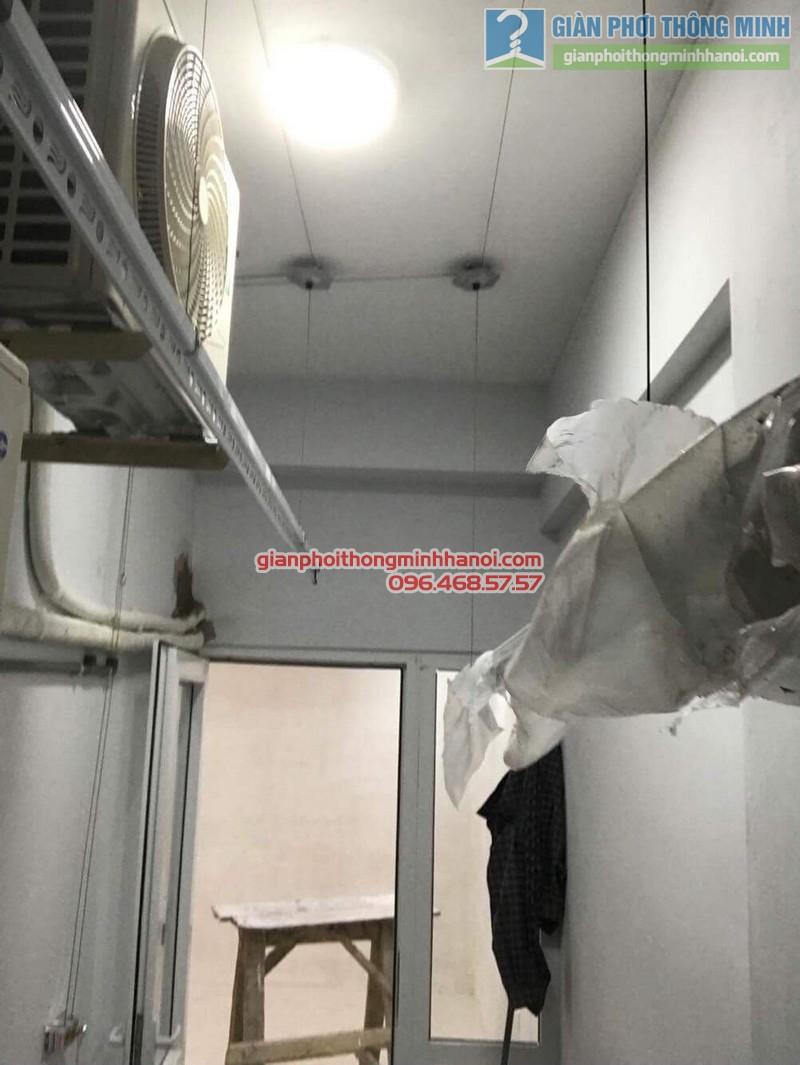 Lắp đặt giàn phơi thông minh 999B tại nhà chị Vân, chung cư 622 Minh Khai, Hai Bà Trưng, Hà Nội - 07