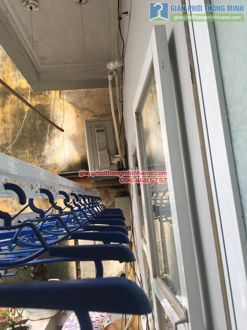 Lắp giàn phơi tại Đống Đa: bộ giàn phơi Hòa Phát GP701 nhà chị Liễu - 03