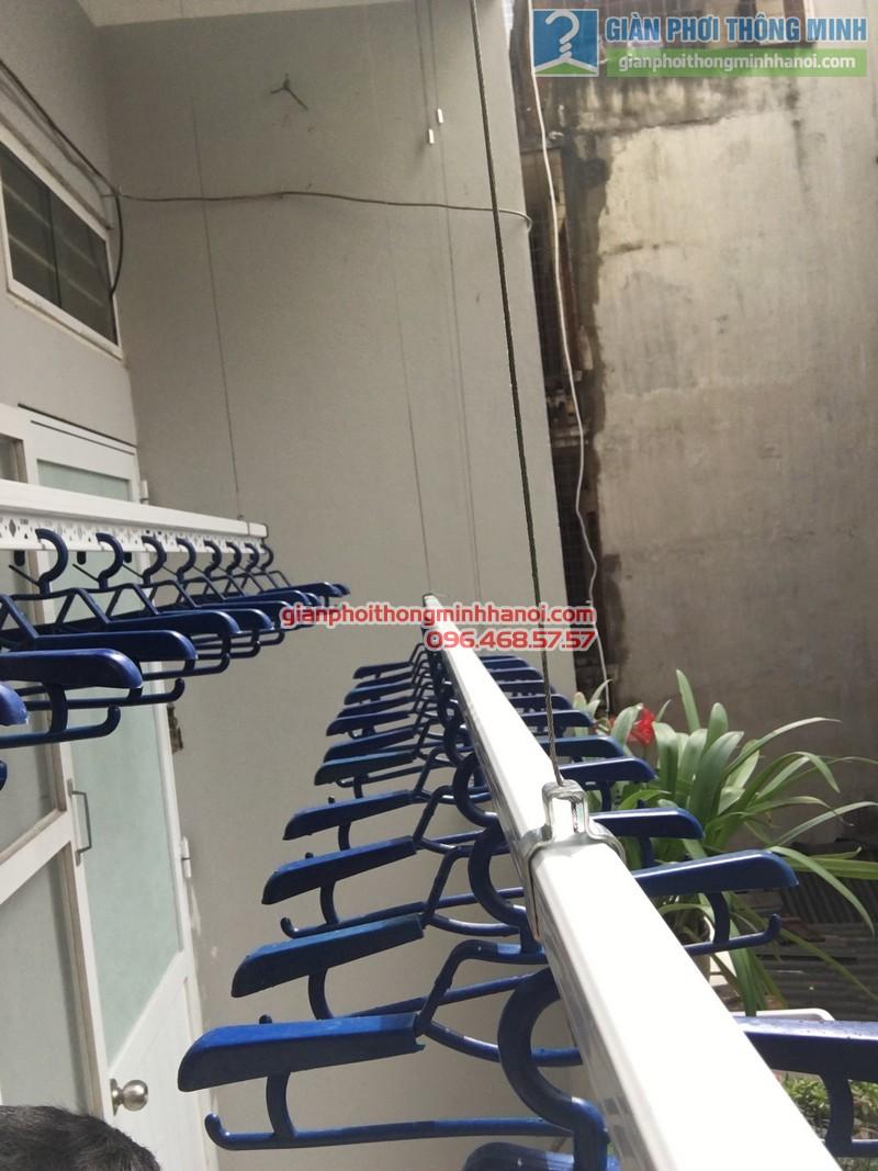 Lắp giàn phơi tại Đống Đa: bộ giàn phơi Hòa Phát GP701 nhà chị Liễu - 05