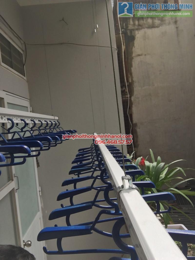 Lắp giàn phơi tại Đống Đa: bộ giàn phơi Hòa Phát GP701 nhà chị Liễu - 06