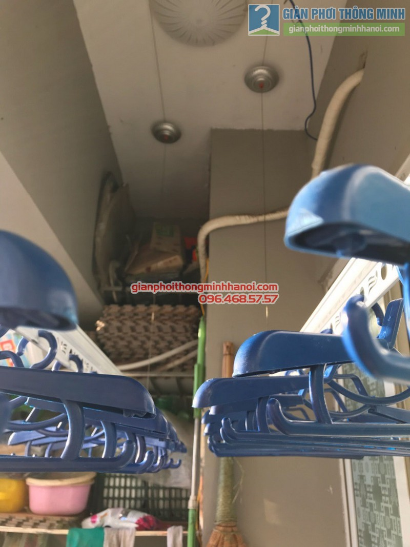 Lắp giàn phơi Hà Đông nhà chị Tâm, chung cư CT1 Ngô Thì Nhậm - 09