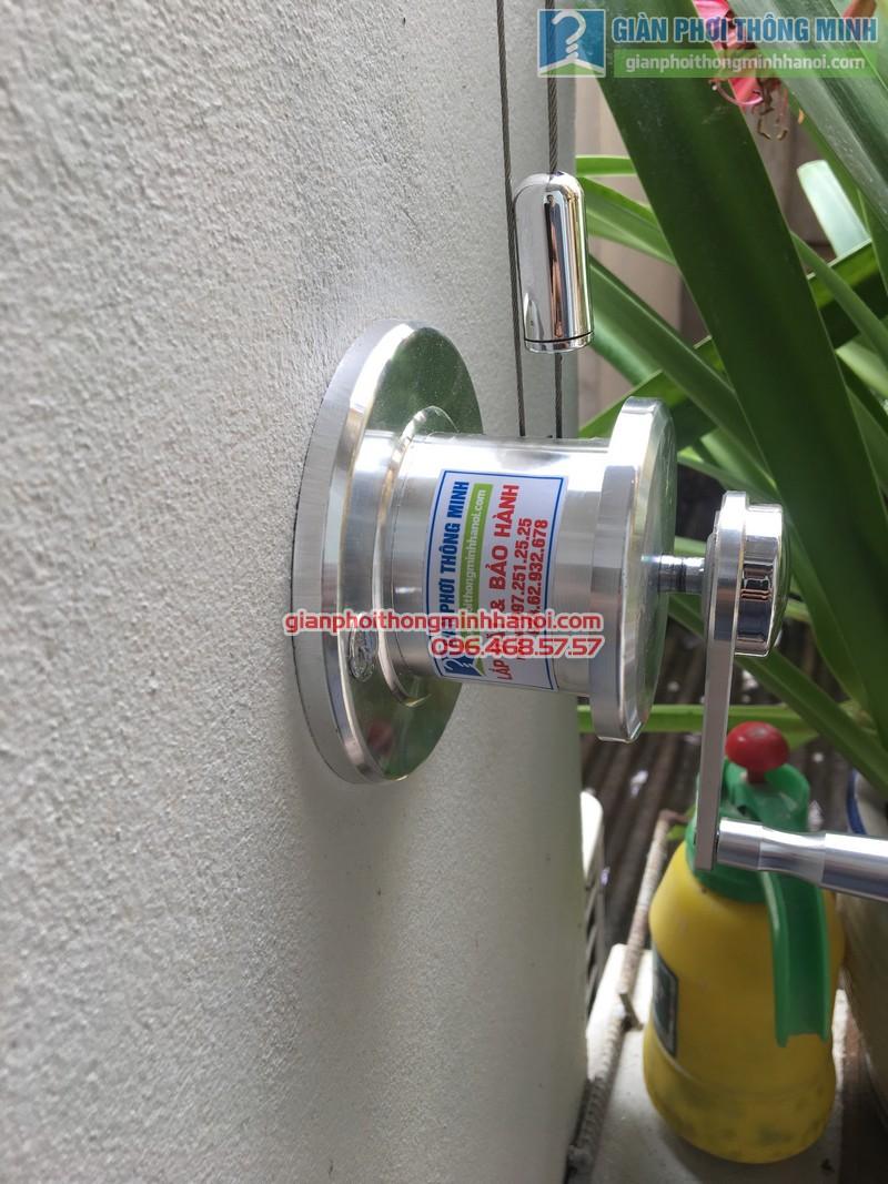 Lắp giàn phơi tại Đống Đa: bộ giàn phơi Hòa Phát GP701 nhà chị Liễu - 11