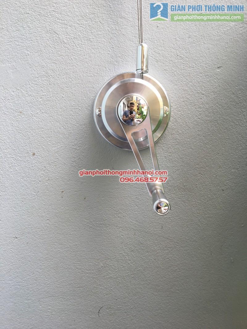 Lắp giàn phơi tại Đống Đa: bộ giàn phơi Hòa Phát GP701 nhà chị Liễu - 12