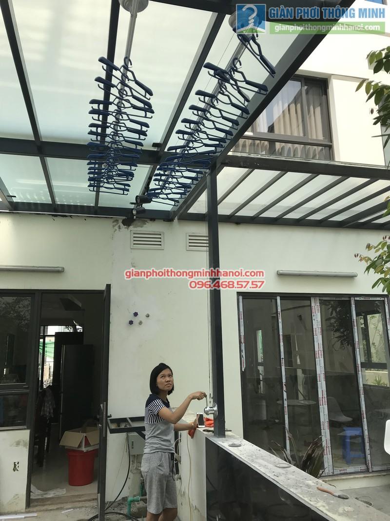 Lắp giàn phơi thông minh cho biệt thự nhà chị Duyên, khu Long Cảnh Tây, Vinhomes Thăng Long - 04
