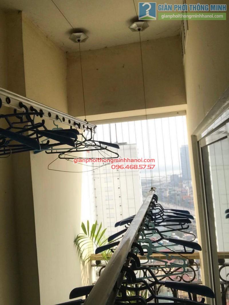 Sửa giàn phơi quần áo nhà chị Điệp, chung cư Hòa Bình Green City, Minh Khai, Hai Bà Trưng, Hà Nội - 05