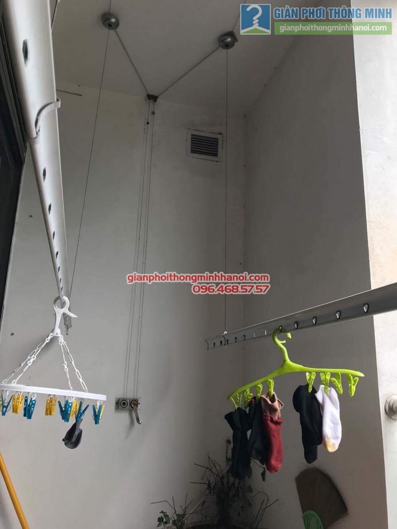 Sửa giàn phơi thông minh nhà chị Nguyệt, chung cư Ciputra Võ Chí Công, Xuân La, Tây Hồ, Hà Nội - 02