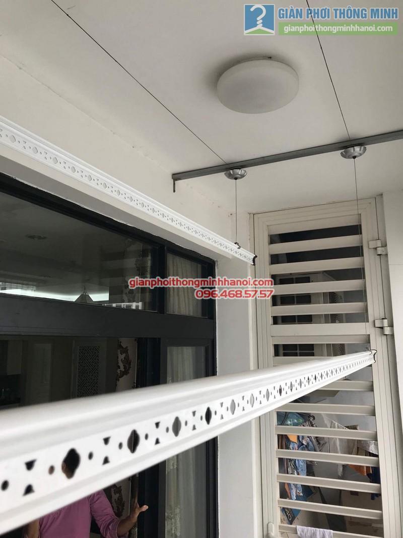 Lắp giàn phơi thông minh tại Thanh Xuân, nhà cô Ngần, tòa R4, Royal City - 03