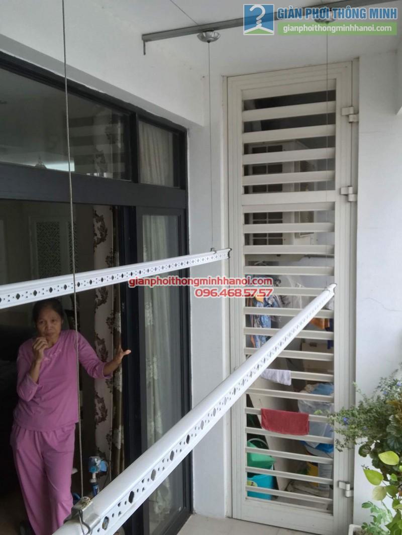 Lắp giàn phơi thông minh tại Thanh Xuân, nhà cô Ngần, tòa R4, Royal City - 04