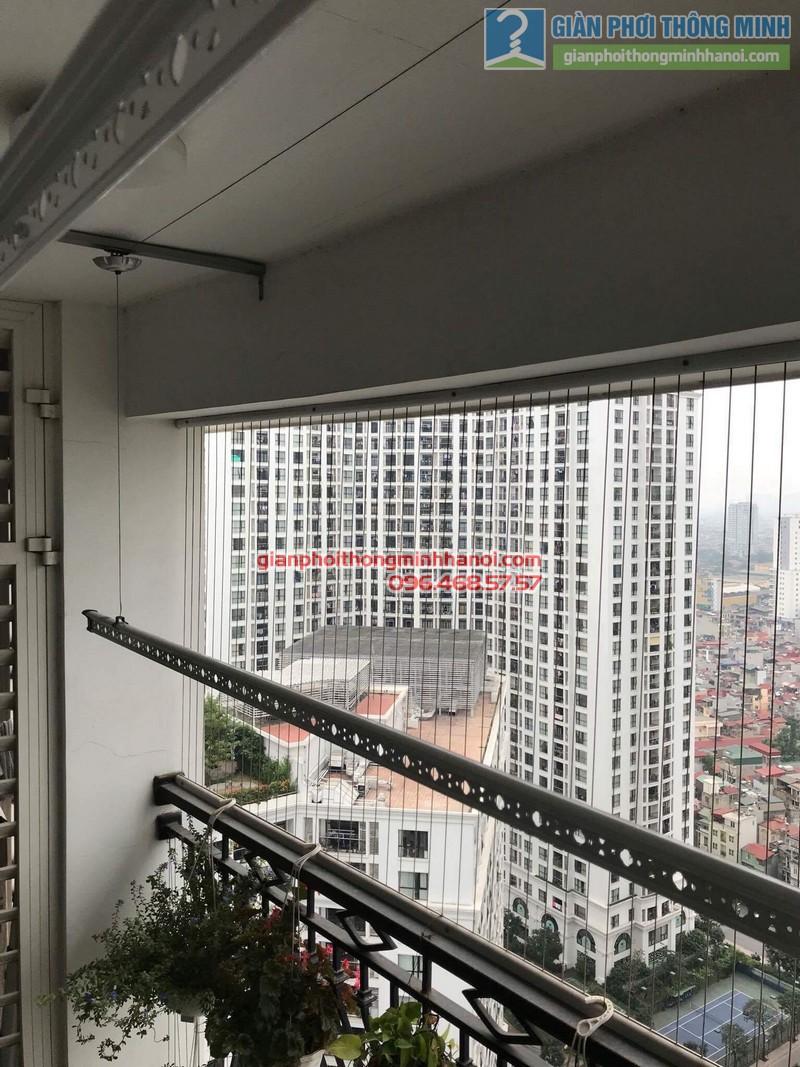 Lắp giàn phơi thông minh tại Thanh Xuân, nhà cô Ngần, tòa R4, Royal City - 05