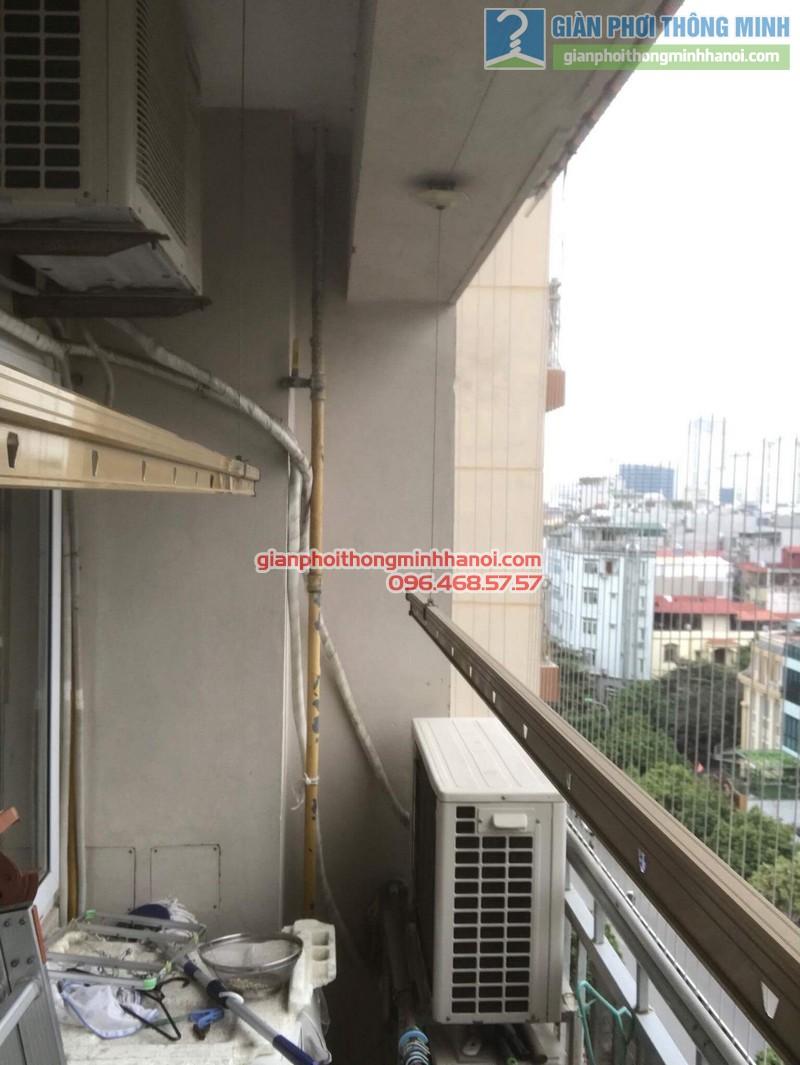 Sửa giàn phơi nhà chị Hạnh, chung cư G3C Vũ Phạm Hàm, Cầu giấy, Hà Nội - 02