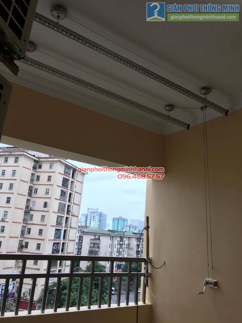 Lắp giàn phơi Cầu giấy nhà chị Vui, chung cư 24T2 Hoàng Đạo Thúy - 07
