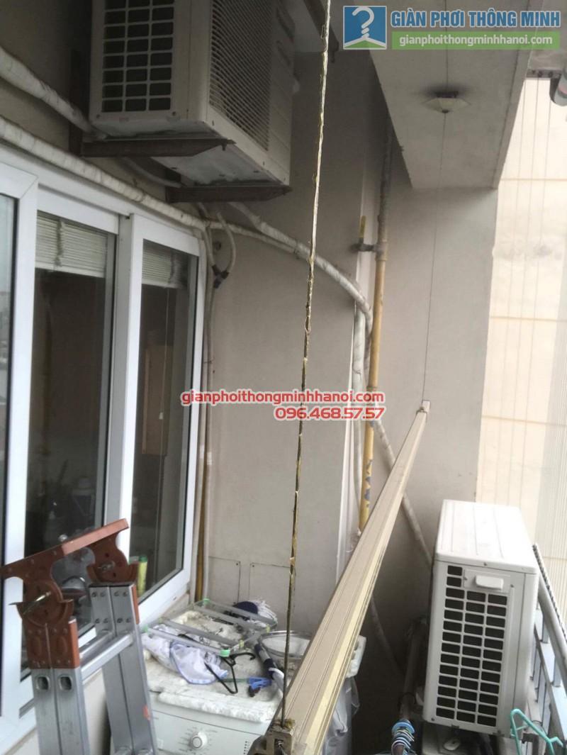Sửa giàn phơi nhà chị Hạnh, chung cư G3C Vũ Phạm Hàm, Cầu giấy, Hà Nội - 06