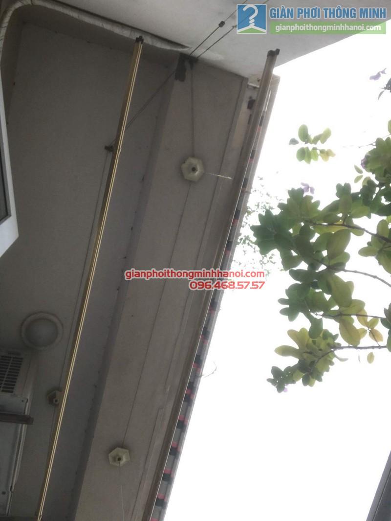 Sửa giàn phơi nhà chị Thanh, chung cư N07 Dịch Vọng, Cầu giấy - 01