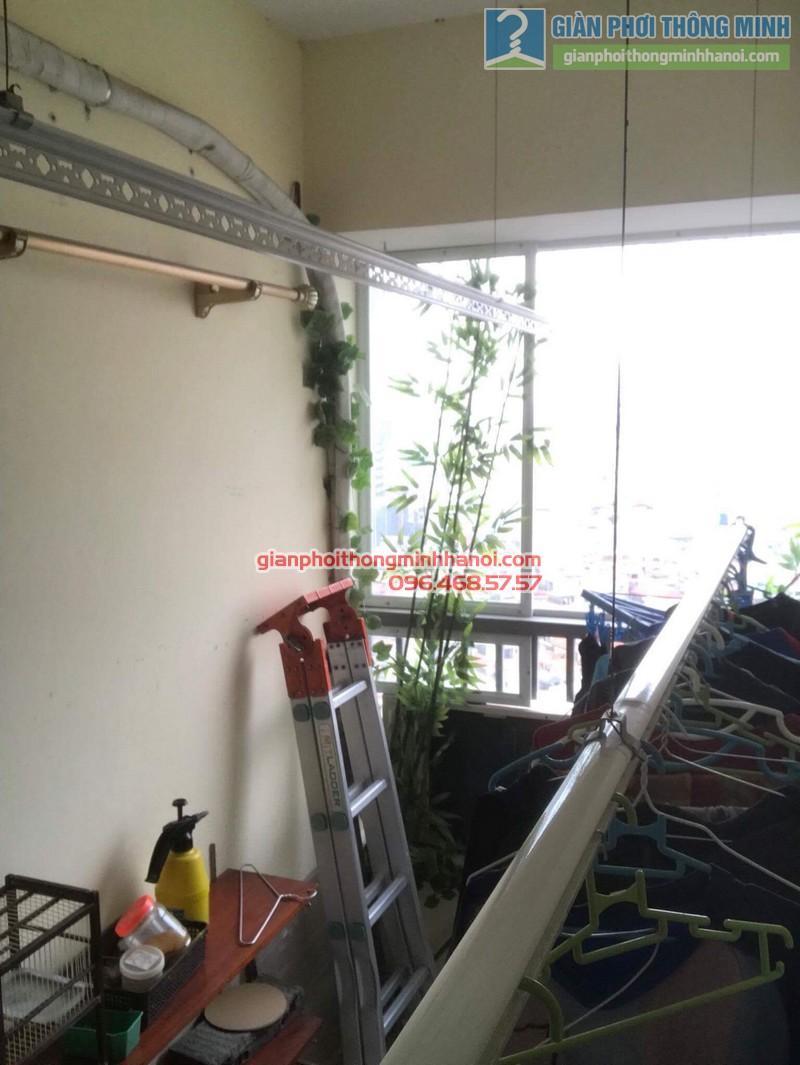 Sửa giàn phơi nhà chị Thanh, chung cư N07 Dịch Vọng, Cầu giấy - 04