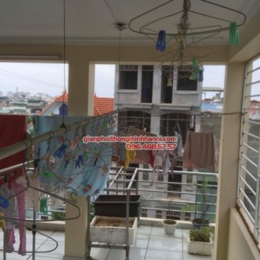 Sửa giàn phơi thông minh Tây Hồ, nhà chị Nhi, ngõ 124 Âu Cơ
