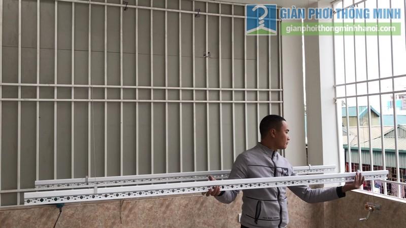 Lắp giàn phơi thông minh tại Long Biên, ngõ 640 Nguyễn Văn Cừ - 09
