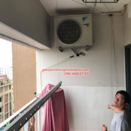 Sửa giàn phơi thông minh Hà Đông nhà anh Bảo, P806 chung cư Xuân Mai Park Tower