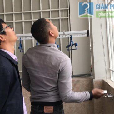Lắp giàn phơi Long biên bộ 999B nhà anh Bình, ngõ 640 Nguyễn Văn Cừ