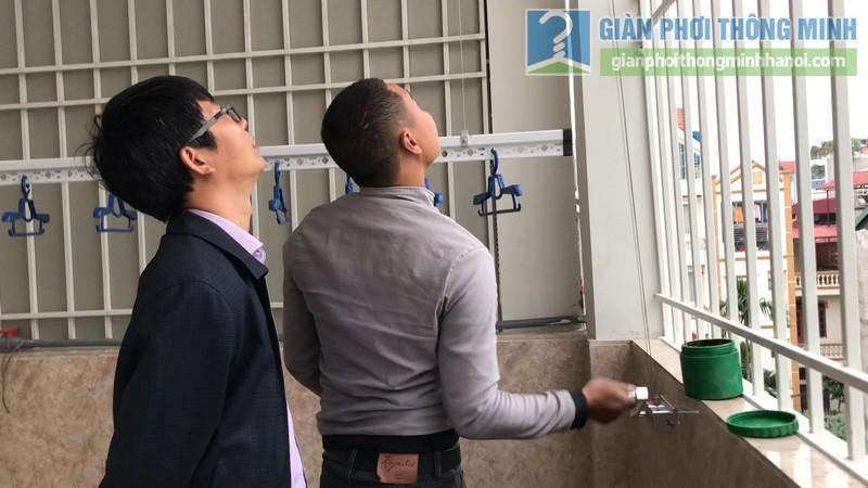 Lắp giàn phơi thông minh tại Long Biên, ngõ 640 Nguyễn Văn Cừ - 12
