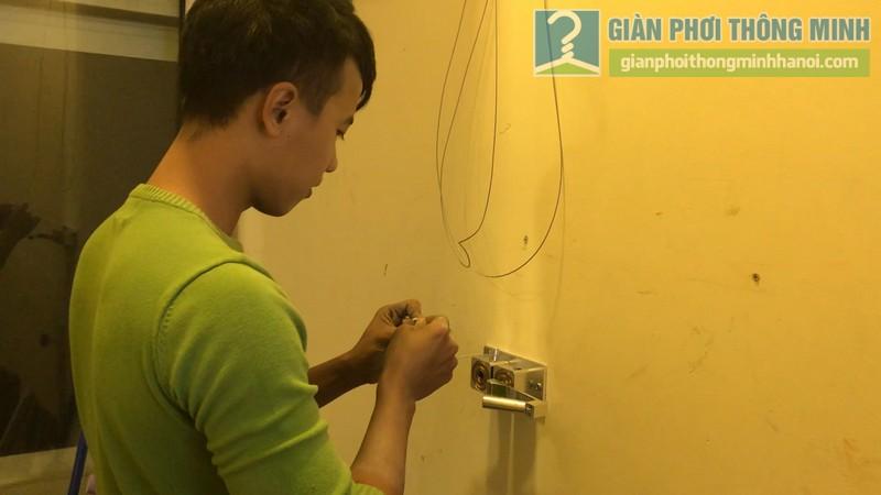 Lắp giàn phơi 999B nhà chị Mai, chung cư Hòa Bình Green, 505 Minh Khai, Hai Bà Trưng, Hà Nội - 01