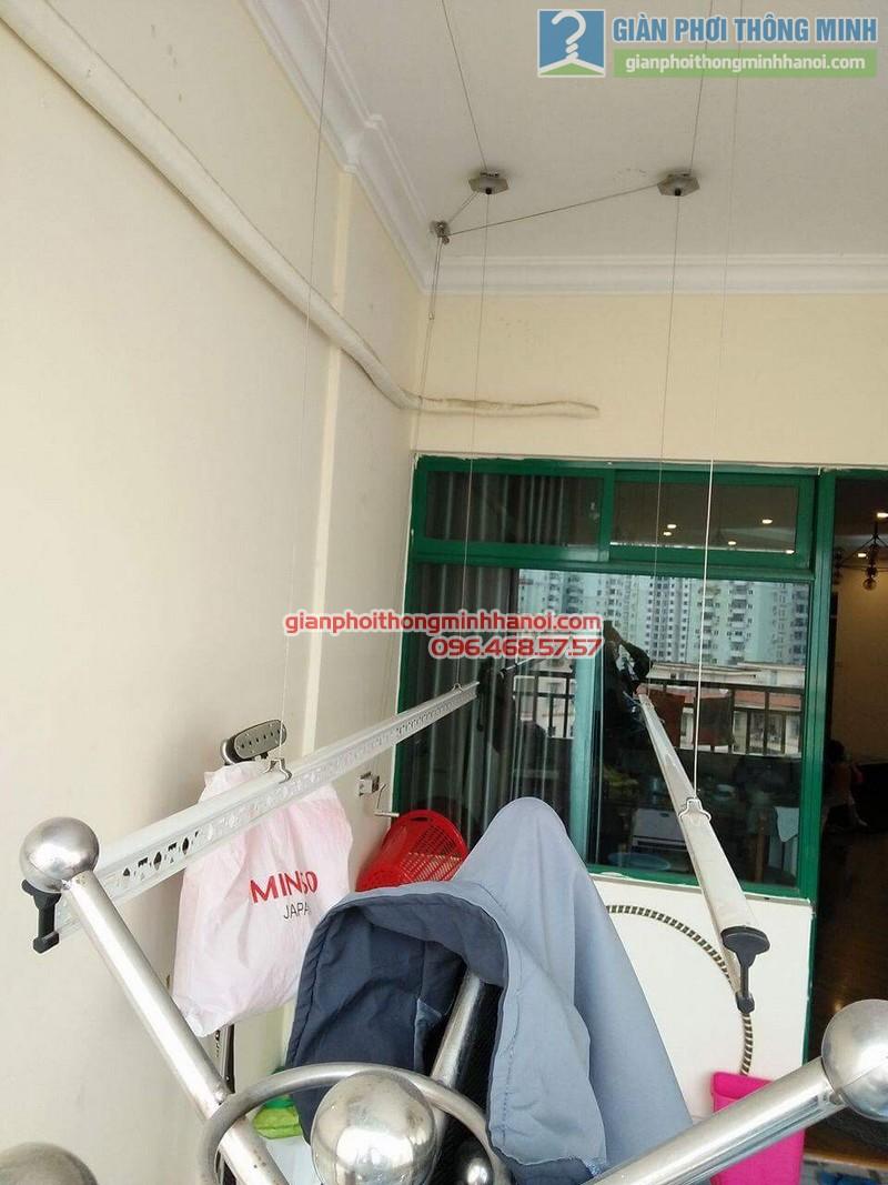 Lắp giàn phơi 999B nhà anh Đức, tòa 24T2 Hoàng Đạo Thúy, KĐT Trung Hòa Nhân Chính, Cầu Giấy, Hà Nội - 01