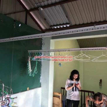 Lắp đặt giàn phơi thông minh tại Đống Đa nhà cô Liên, ngõ 151 Thái Hà, Láng Hạ