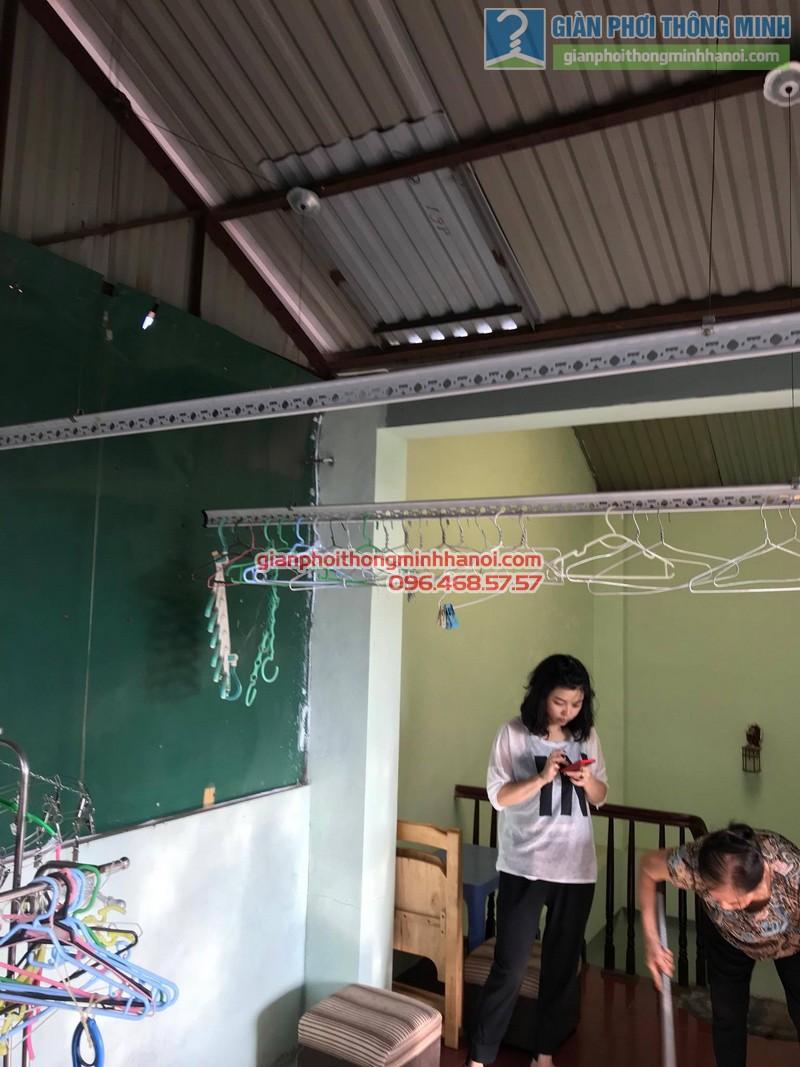 Lắp đặt giàn phơi thông minh tại Đống Đa nhà cô Liên, ngõ 151 Thái Hà - 01