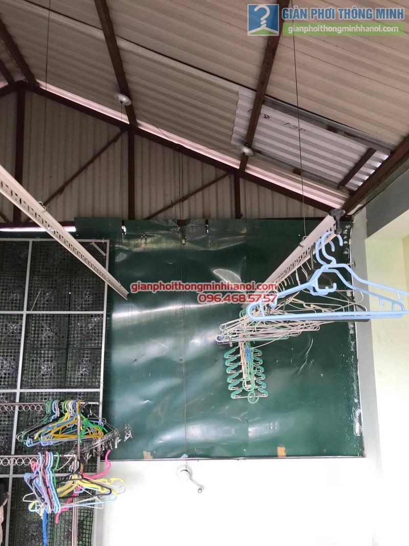 Lắp đặt giàn phơi thông minh tại Đống Đa nhà cô Liên, ngõ 151 Thái Hà - 02