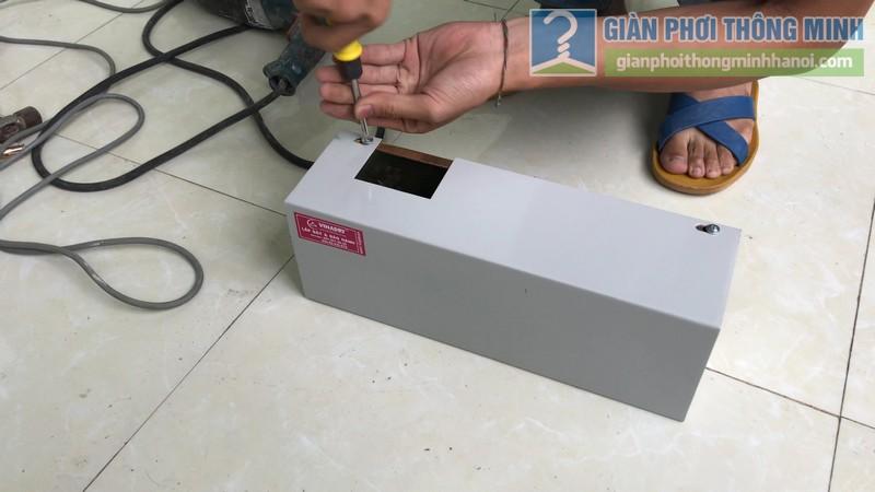 Lắp giàn phơi điện tự động Vinadry nhà chị Hảo ngõ 170 Xuân Thủy, Cầu giấy - 02