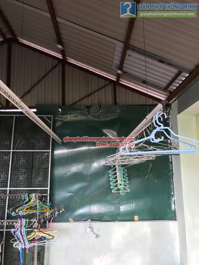 Lắp đặt giàn phơi thông minh tại Đống Đa nhà cô Liên, ngõ 151 Thái Hà - 03