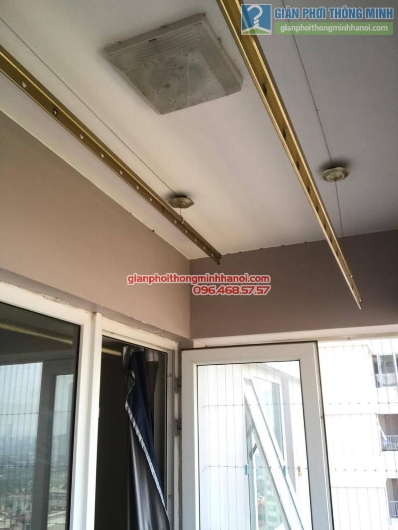 Sửa giàn phơi thông minh tại Hà Đông, nhà chị Hằng, chung cư 16B Nguyễn Thái Học - 03