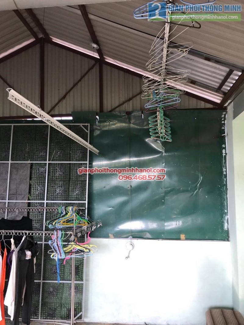 Lắp đặt giàn phơi thông minh tại Đống Đa nhà cô Liên, ngõ 151 Thái Hà - 04