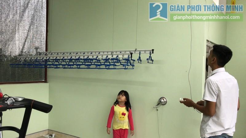 Lắp giàn phơi điện tự động Vinadry nhà chị Hảo ngõ 170 Xuân Thủy, Cầu giấy - 07