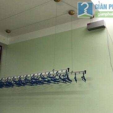 Lắp giàn phơi điện tự động Vinadry nhà chị Hảo, ngõ 170 Xuân thủy, Cầu Giấy, Hà Nội