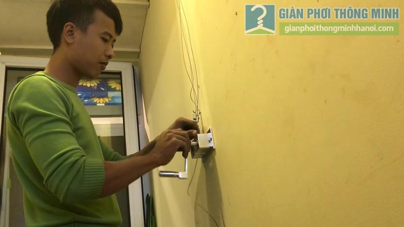 Lắp giàn phơi 999B nhà chị Mai, chung cư Hòa Bình Green, 505 Minh Khai, Hai Bà Trưng, Hà Nội - 08