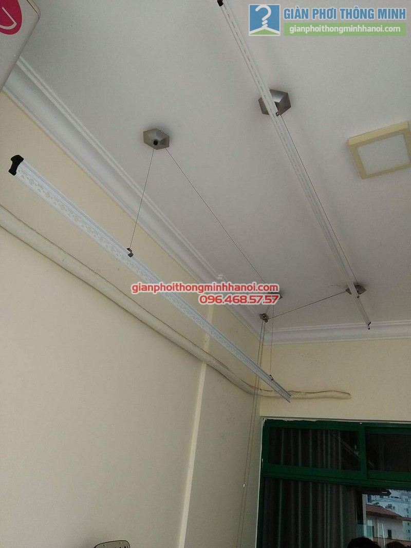 Lắp giàn phơi 999B nhà anh Đức, tòa 24T2 Hoàng Đạo Thúy, KĐT Trung Hòa Nhân Chính, Cầu Giấy, Hà Nội - 06