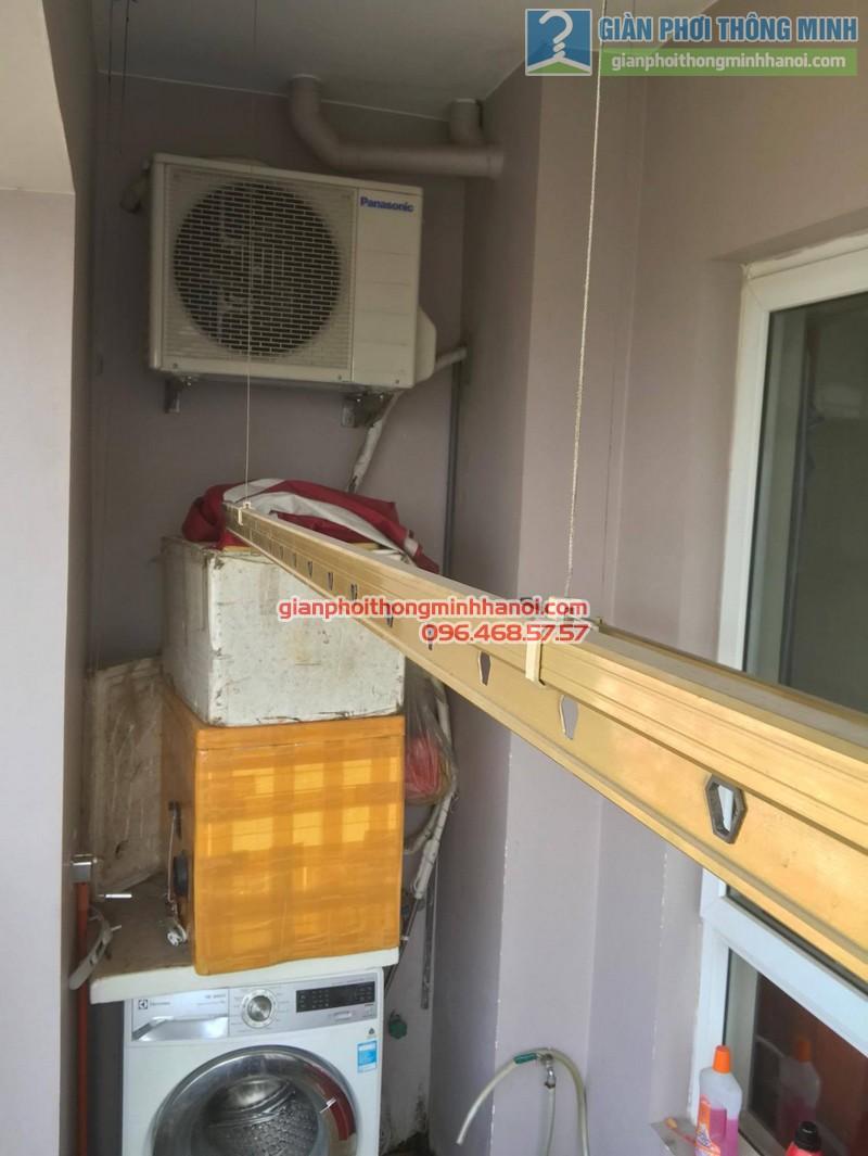 Sửa giàn phơi thông minh tại Hà Đông, nhà chị Hằng, chung cư 16B Nguyễn Thái Học - 06